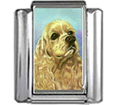 Stylysh Charms Cocker Spaniel Dog Photo Italian 9mm Link DG159 ()