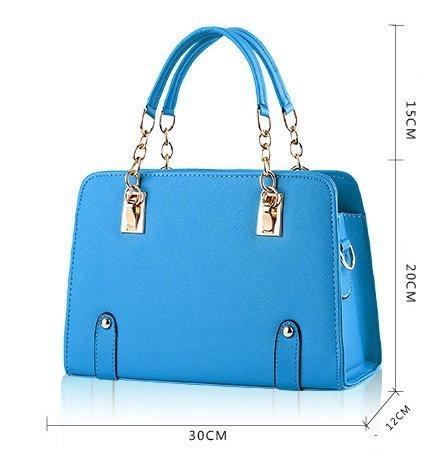 iLory Mode Handtaschen Schulter Messenger Totes für Frauen Himmelblau