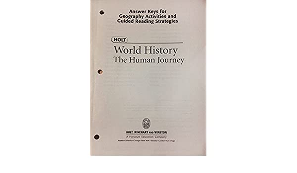 Holt World History the Human Journey: Answer Keys for Geography ...