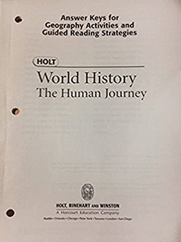 holt world history the human journey answer keys for geography rh amazon com Fun Activity Worksheets Fun Geography Worksheets