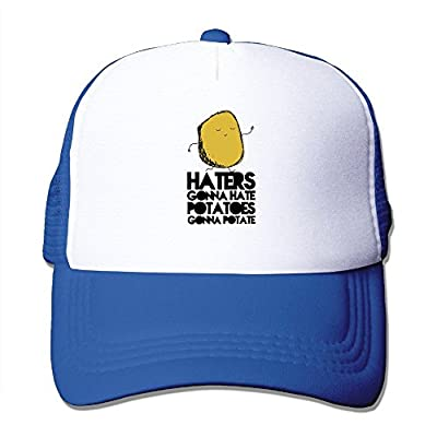 Haters Gonna Hate, Potatoes Gonna Potate Adjustable Printing Snapback Mesh Hat Unisex Adult Baseball Mesh Cap by Brecoy