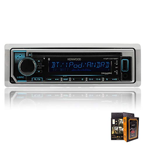 Kenwood KMR-D372BT Marine Single-Din In-Dash CD Receiver With Bluetooth, SiriusXM Ready and EMB 3.5mm Aux Cable (Kenwood Cd Player Remote)