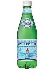S.Pellegrino Carbonated Natural Mineral Water, 500ml Plastic Bottle, 24 Bottles Total