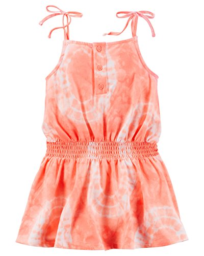Carter's Girl Sleeveless Tie Dye Jersey Dress; Orange - Sammy Dress Clothing
