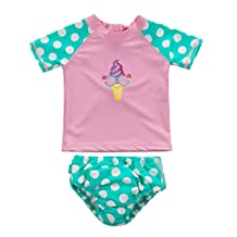 Wishere Baby Beach Swim Two-Pieces Rash Guard Set Sun Protective Sunsuit