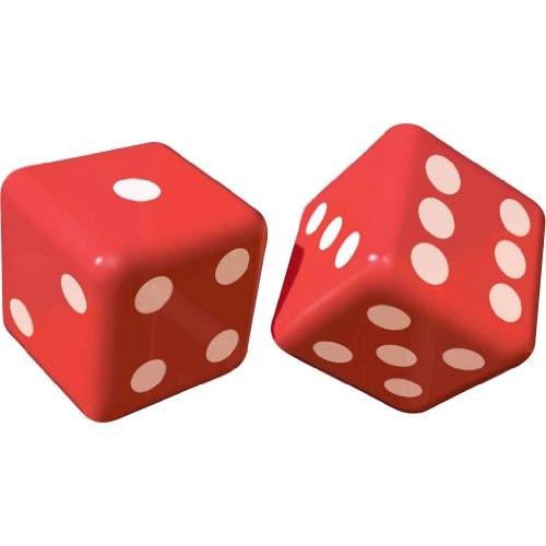 Amscan Inflatable Dice Casino Party Decoration (2 Piece), Red/White, 6.3 x 9