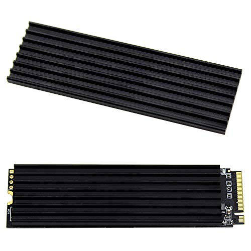 (M.2 2280 SSD heatsink, Double-Sided Heat Sink for PCIE NVME SSD or SATA M.2 SSD, Aluminum Alloy Heat Sink with Silicone Thermal Pads )