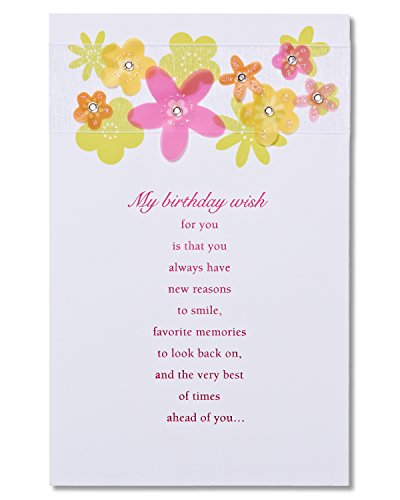 American Greetings Birthday Wish Birthday Card with Glitter