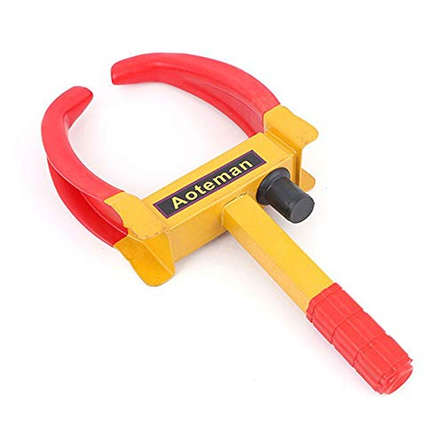 AIkong Wheel Lock Anti-Theft Truck Tire Clamp Tyre Parking Lock Car Wheel Clamp Yellow&red