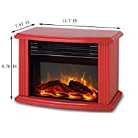 Electric Fireplace 1500W Tabletop Protab...