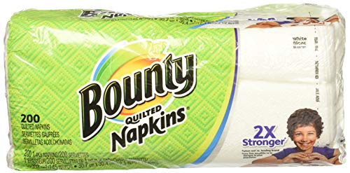 Bounty Paper Napkins, White or Printed, 200 Count, Pack of 2