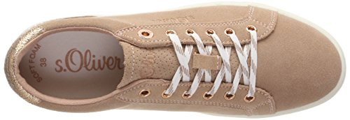 Basses Femme s Oliver Rose 23620 Old Sneakers Rose wqqtIAaZ