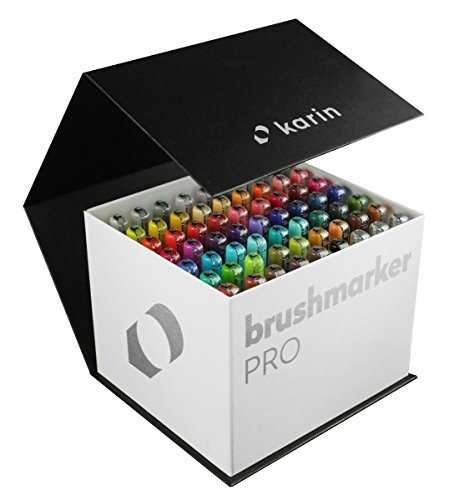 Mega Box Karin Brush Marker Pro Brushpens Water Based Ideal for Painting, Drawing and Hand Lettering Mehrfarbig by KARIN (Image #3)