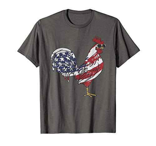 Chicken American Flag 4th of July Independence Day Gift T-Shirt ()