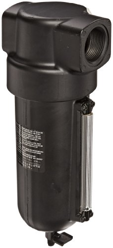 Dixon F17-A00M Norgren Series Manual Drain Airline Filter with Sight Glass, Metal Bowl, 1