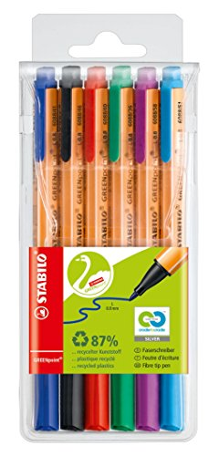 STABILO GREENpoint Felt-Tip Sign Pen - Assorted Colours, Wallet of ()