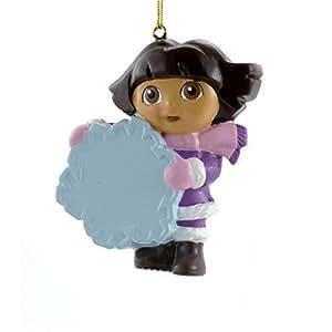 Dora the Explorer With Snowflake Ornament