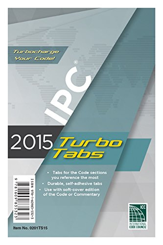 2015 International Plumbing Code Turbo Tabs for Paperbound Edition
