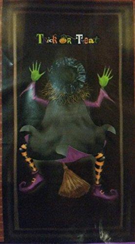 Crashing Witch Halloween Door Cover with Trick or Treat (Mummy Door For Halloween)