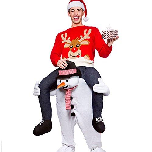 C360 Funny Piggyback Ride On Riding Shoulder Adult Costume (Piggyback Costume Snowman)