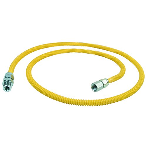 Brasscraft Cssl87 60 P 3 8 Inch Fip X 3 8 Inch Mip X 60 Inch Procoat Gas Appliance Connector With  3 8 Inch Od