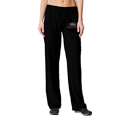 BakeOnion Women's Ford Racing Jogger Workout Pants M Black