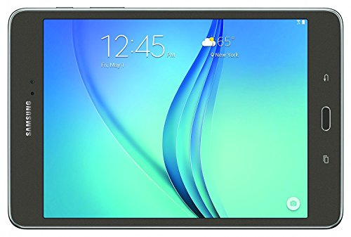 Samsung Galaxy Tab A SM-T350 8-Inch Tablet (16 GB, SMOKY Titanium) W/ Pouch (Certified Refurbished)