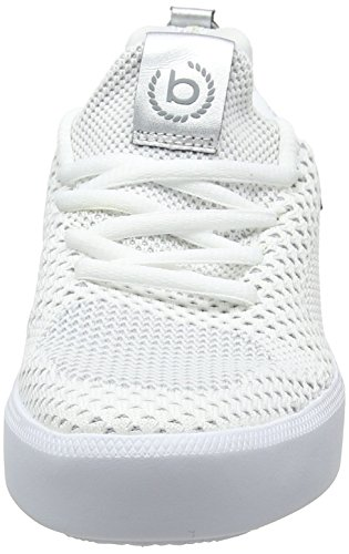 Bugatti on white 2090 422407636959 Slip Metallics Sneaker Donna Bianco BqFqT