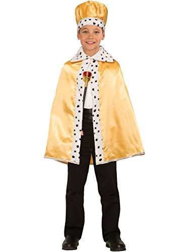 Forum Novelties Unisex-Children Royal Cape Child's, Gold, One (King And Queen Costume)