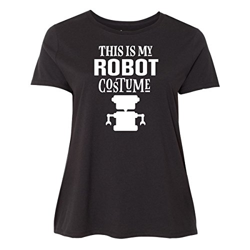 30/32 Halloween Costumes (Inktastic - Robot Costume Funny Women's Plus Size T-Shirt 5 (30/32) Black 2d722)