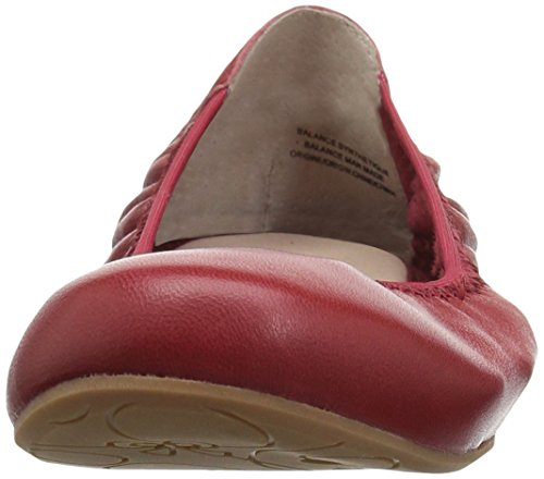 Blondo Women's Becca Waterproof Ballet Flat Red Leather WpH995Pi