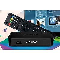 MAG 349 Latest Original Linux IPTV/OTT Box - Fast Processor, faster than MAG 256-Genuine Original Box From Infomir (UK PLUG)