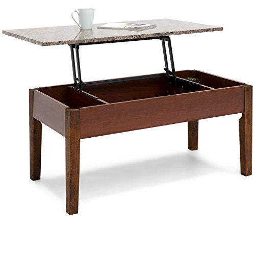 Best Choice Products Living Room Lift-up Coffee Table w/Inne
