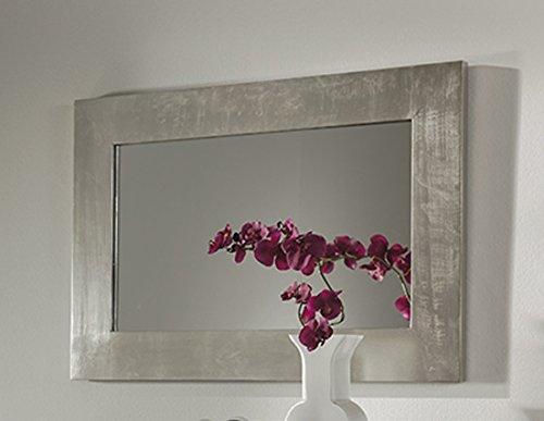 espejos de madera modelo rosaura plata color amazones hogar - Espejos Plateados