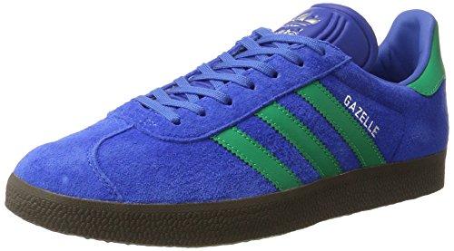 adidas Herren Gazelle Sneaker Blau (Blue/Core GREEN/GUM)