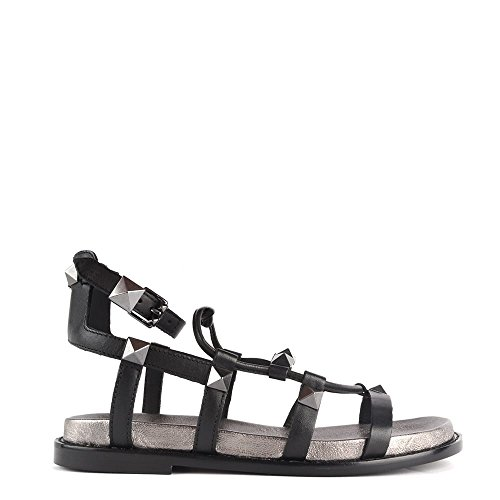 Ash Schuhe Magnum Schwarz Piombo Sandalen aus Leder Damen Schwarz