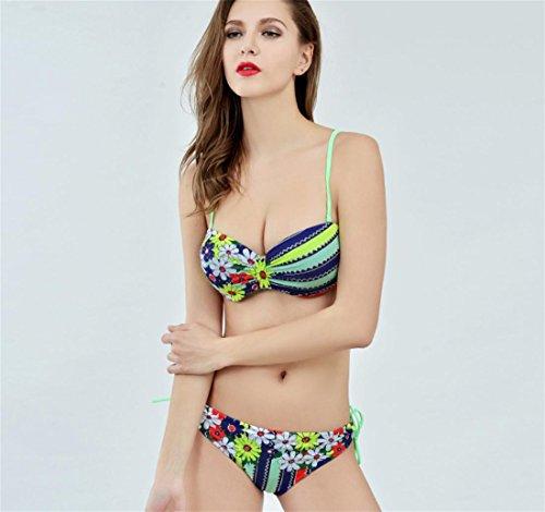 SZH YIBI Bikini de las mujeres nueva moda de dos piezas traje de baño traje de baño de primavera traje de baño de playa de alta elasticidad color