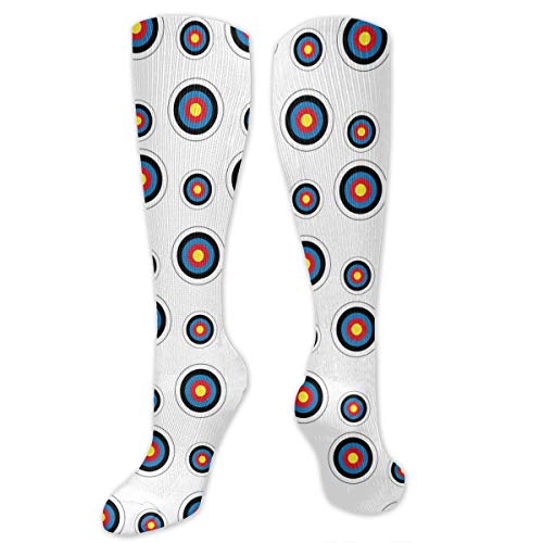 Unisex Archery Target Colorado Circular Printed Funny Novelty Casual Cotton Socks -
