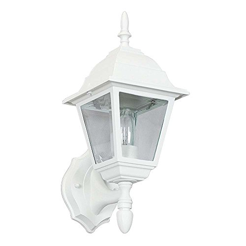 Sunset Lighting F7821-31 Outdoor Wall Sconce with Clear Beveled Glass, Black Finish