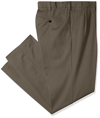 Dockers Men's Big and Tall Classic Fit Easy Khaki Pants - Pleated, Dark Pebble (Stretch), 50 28
