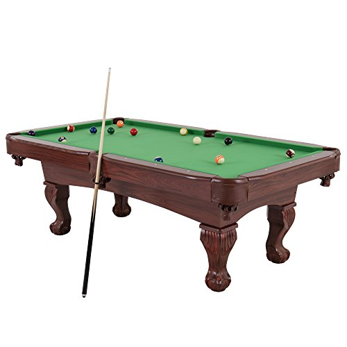 "Triumph Pool Table - Triumph 89"" Santa Fe Billiard Table Featuring Traditional Claw Feet and Drop Pockets"