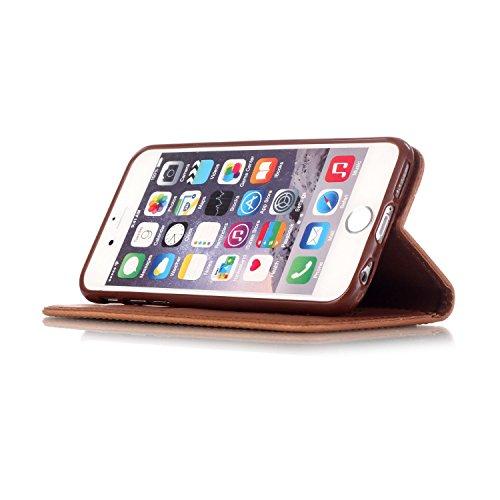Voguecase® Pour Apple iPhone 6/6s 4,7 Coque, Etui Housse Cuir Portefeuille Case Cover (Campanula fleur-Marron)de Gratuit stylet l'écran aléatoire universelle