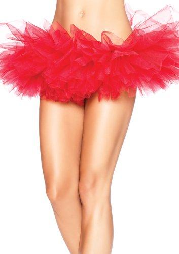 [Leg Avenue Women's Organza Tutu, Red, One Size] (Wonder Woman Red Corset)