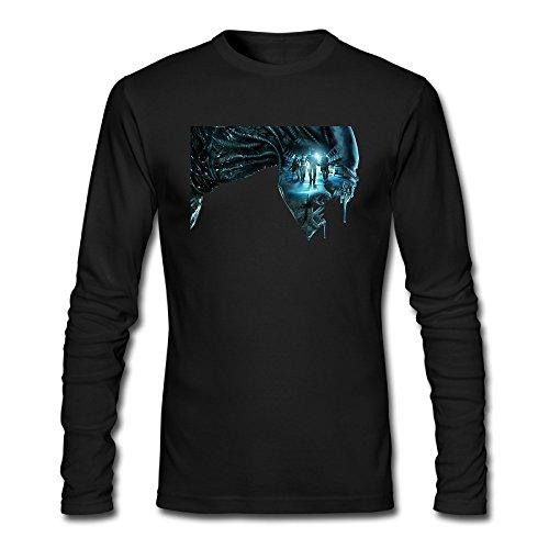 SBPZEB Long Seelve Round Collar Alien Covenant Logo Men's T-shirt Tee S - Macys Pittsburgh