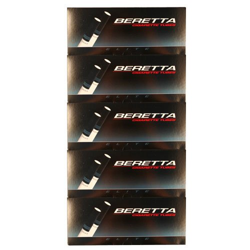 Beretta Elite King Cigarette Tubes 200ct Carton 5 Pack (Original Version) (Best Tasting Tobacco For Rolling Your Own Cigarettes)