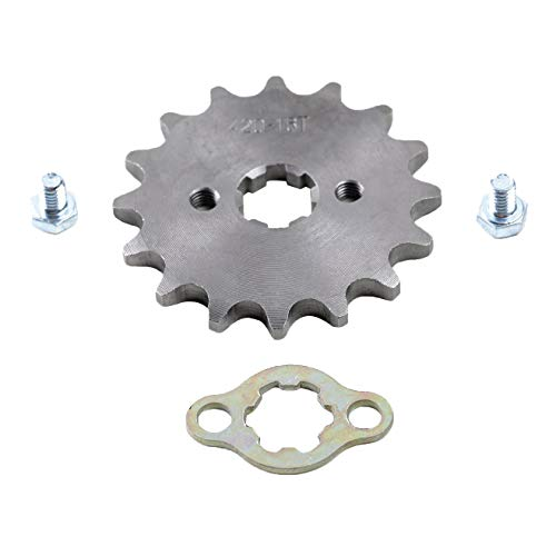 TDPRO 420 17mm 16 Teeth Front Engine Chain Sprocket for ATV Dirt Pit ()