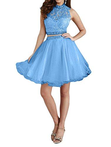 Mini Braut Cocktailkleider La Partykleider Blau Abendkleider mia Rosa A Heimkehr Tanzenkkleider Kurzes Rock Spitze Linie Damen XqUwq0