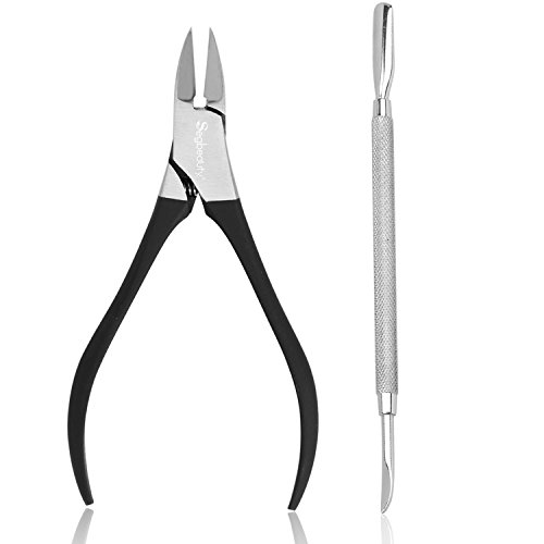 Nail Salons Manicure Pedicure Nail Clipper Set Nail Art Kit by Segbeauty, Stainless Steel Nail Nipper Cuticle Pusher 1/4