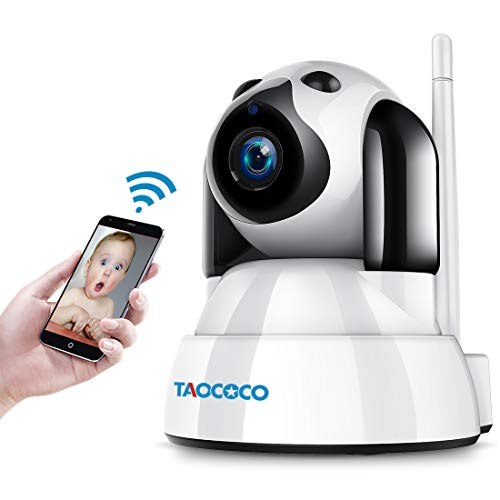 TAOCOCO Wireless Security Camera, 720P WiFi IP Camera, Dog Pet Camera, Home Baby Monitor Nanny Cam with Smart Pan/Tilt/Zoom, Motion Detection, Two Way Talking, Infrared Night Vision For Sale