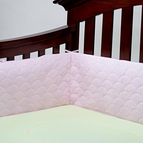 Lifenest Breathable & Padded Mesh Crib Liner - Pink